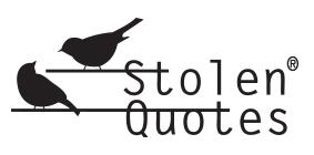 Stolen Quotes Blog